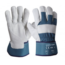 12 pares de Guantes Mixtos (Serraje/Lona) Erie Fit